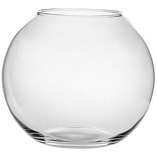 Vase XXL Deko Blumenvase Famous Kula D 30 cm H 25 cm Hochwertiges Glas Moderner Zeitloser Style Tischvase