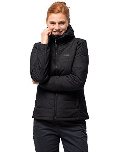 Jack Wolfskin Damen Maryland Jacket Steppjacke Winddicht Wasserabweisend Atmungsaktiv Jacke Wattiert, schwarz, XL (Xl Face North Womens Daunenjacke)
