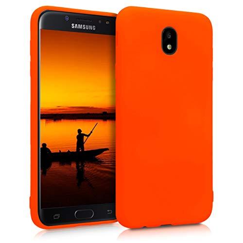kwmobile Samsung Galaxy J7 (2017) DUOS Hülle - Handyhülle für Samsung Galaxy J7 (2017) DUOS - Handy Case in Neon Orange