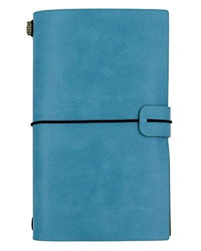 NectaRoy Leder Cover Notebook Retro Vintage Tagebuch Notizblock Studenten Favor mit Karten Inhaber, Größe 12 * 20cm Tagebuch zum Selbst Gestalten für Individuelle Reiseberichte - Karte-laptop-hülse