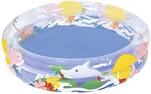 Bestway Piscine gonflable pataugeoire enfant Sea Life diamètre 91 cm x 20 cm