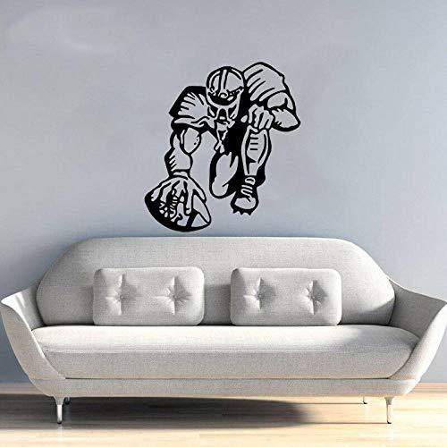 er pvc fußball rugby ball sport wohnzimmer das schlafzimmer dekor 45.2CM*49CM ()