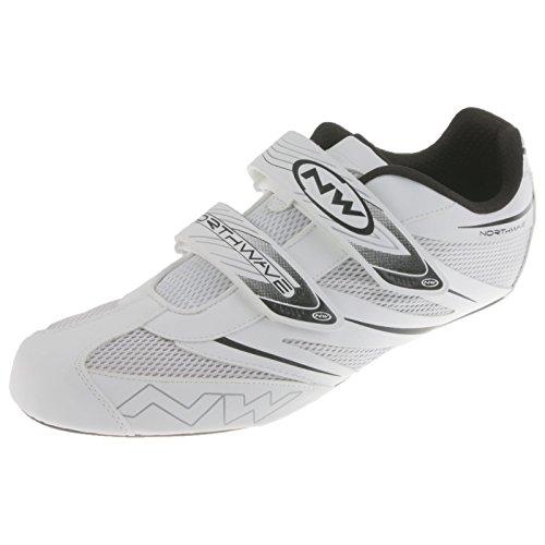 Northwave Jet Pro Fahrrad Rennrad Schuhe Klettverschluss Road Bike Rad Sport, 80121008, Farbe Weiß, Größe 49
