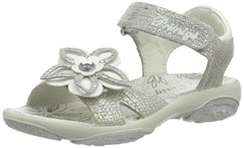 Primigi Mädchen Pbr 7594 Offene Sandalen mit Keilabsatz, Silber (Argento/Bianco), 34 EU