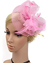 Cerchietto con Piuma Di Capelli e Cappello Partito Festa Donne Sposa  Fascinator Per Accessori Di Cerimonia cd8d01cf651d