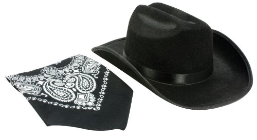 Aeromax Junior Cowboy Hat with Bandanna, Black by Aeromax (Junior Cowboy Kostüm)