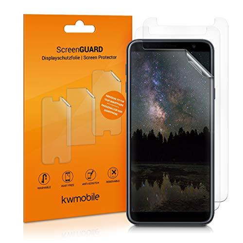 kwmobile 3X Folie für Samsung Galaxy J4+ / J4 Plus DUOS - klare Bildschirmschutzfolie Bildschirmschutz Crystal Clear kristallklar Bildschirmfolie Schutzfolie