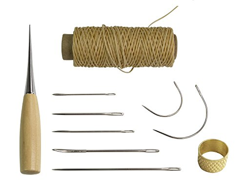 7-pieces-curved-hand-sewing-needles-kit-with-drilling-awl-thimble-and-flat-waxed-thread-for-upholste