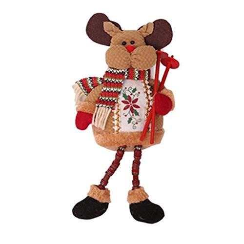 Qnmbdgm decorazione cartoon babbo natale seduto bambola decorazione di natale per casa scrivania ornamento xmas party supplies decor