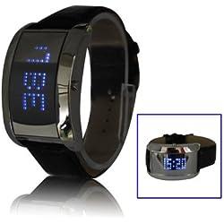 Mirror LED Uhr mit Kunstleder Armband