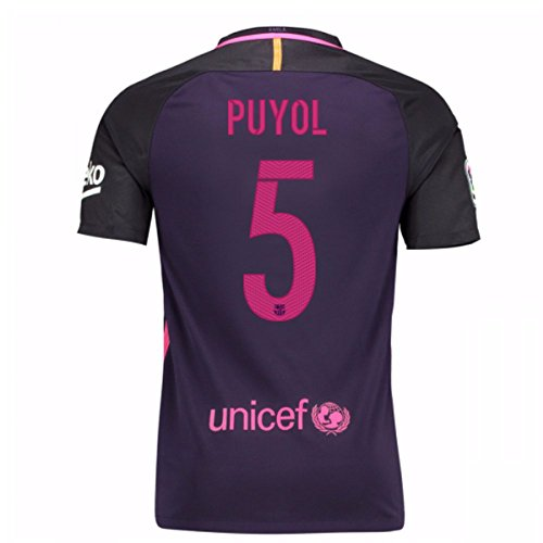 Auswärtstrikot FC Barcelona 2016/2017 - Offizielles Trikot Nike, Größe XL Puyol 5