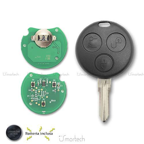 Mercedes-Benz - Chiave con elettronica vergine da programmare Smart Fortwo 450 Forfour