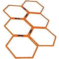 UNIVIEW Anillo Hexagonal de la Agilidad, Formación Anillo físico de formación del Anillo de Fútbol Entrenador Escaleras Vallas Anillos Velocidad Adecuada for el Entrenamiento de Baloncesto y fútbol