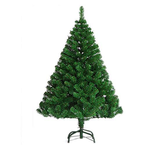 FOURFUN Albero di Natale Artificiale 150 cm (500 Punte), Verde Medio & Pino Innevato Bianco Natural & Bianco ncl. Supporto in Metallo (Verde, 150cm/500 Punte)