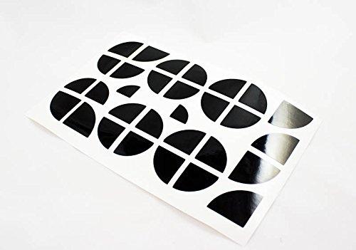 Emblem Ecken Aufkleber Sticker Motorhaube Felgen schwarz glanz -