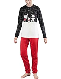 GISELA Pijama de Mujer Snoopy 2/1549 - Negro, S