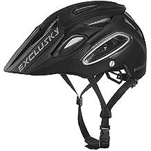 Exclusky Casco de Ciclismo,Unisex Adulto,M(54-58cm) (Negro
