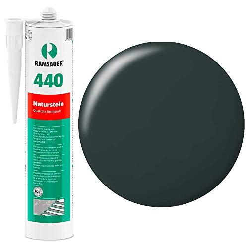 Ramsauer 440 Naturstein 1K Silikon Dichtstoff 310ml Kartusche (Dunkel Anthrazit)