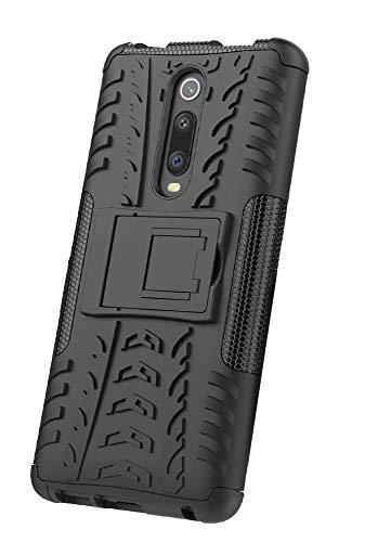 Dedux Cover Xiaomi Mi 9T [Tough Armor Series] Robusto Pannello Posteriore PC AntiGraffio +Antiurto TPU Protettivo Interno Custodia.Nero
