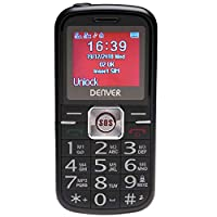 Denver BAS-18250M Senior Big Button Mobile Phone With Extra Loud Speaker, Talking Keypad, High Visibility Text, Bluetooth, SOS, Speed Dial & Torch