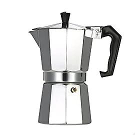 Decdeal 12-Cup Aluminum Espresso Percolator Coffee Maker Mocha Pot for Use on Gas or Electric Stove