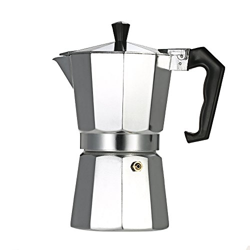 Decdeal 12-Cup Aluminum Espresso Percolator Coffee Maker Mocha Pot for Use on Gas or Electric Stove 41LnQqP1LLL