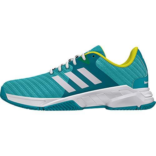 adidas Barricade Court 3, Scarpe da Tennis Uomo, Blu Hiraqu/Ftwwht/Shoyel, 44 EU