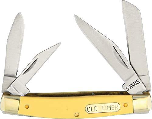 Schrade Old Timer Workmate Couteau avec 4 Lames Pliant 8,25 cm