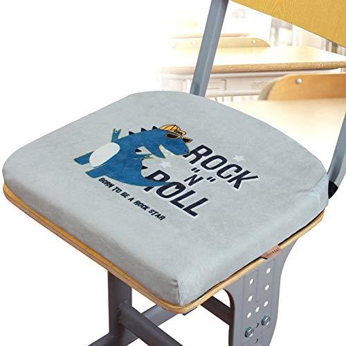 Schaum-sitzpolster (YEARLY Premium Memory-Schaum Sitzpolster, Verdicken sie Stuhlauflage Plüsch Rutschfeste Indoor Outdoor Schule Student Klassenzimmer Orthopädisches sitzkissen-Grau 37x35x4cm(15x14x2inch))