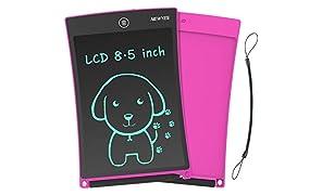 NEWYES 8,5 Pulgadas Tableta Gráfica |Tablet de Escritura LCD eWriter | Tableta portátil de Dibujo o Notas para el Hogar, Escuela u Oficina| Adecuado como Juguete para niños y niñas (Rosa)