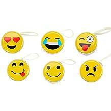 """Lote de 20 Cajitas Metálica """"Emoticonos"""" - Ideal cómo Monedero y para los Auriculares. Cajas para guardar detalles y regalos, ideal para 1ª Comuniones, Celebraciones de Cumpleaños"""