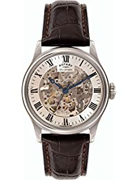 Rotary Men's GS02940/06 Silver Mechnical Skeleton Watch