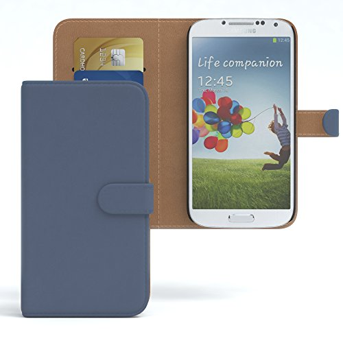 EAZY CASE GmbH Hülle für Samsung Galaxy S4 / S4 Neo Bookstyle mit Standfunktion, Book-Style Case aufklappbar, Schutzhülle, Flipcase, Flipstyle, Flipcover mit 2 Kartenfächern aus Kunstleder, Dunkelblau