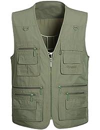53ca19bd9 Vogstyle Mens Multi Pocket Vest Waistcoat Jacket Top For Fishing Hunting  Hiking Gilet Waistcoat