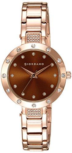 Giordano Analog Brown Dial Women's Watch - 2727-55