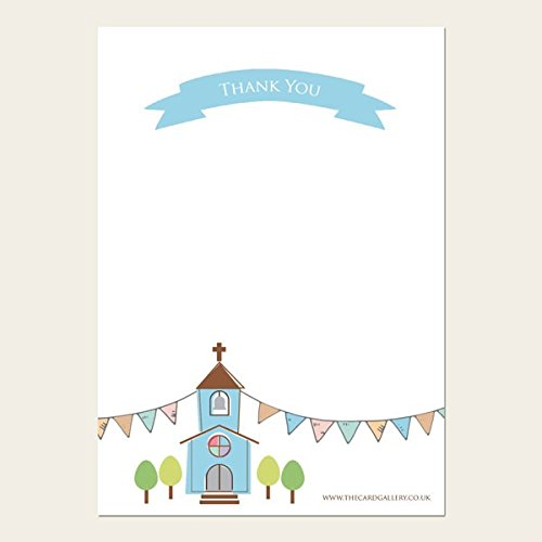 The Card Gallery Thank You Cards - Boys Church amp; Bunting - Pack of 10