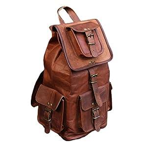 """41LnV2UstdL. SS300  - VH 18 """"nuevo bolso del recorrido de la mochila de la parte posterior del cuero genuino para los Mens y las mujeres"""