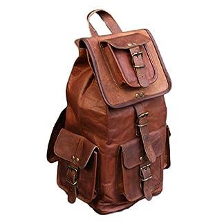 """41LnV2UstdL. SS324  - VH 18 """"nuevo bolso del recorrido de la mochila de la parte posterior del cuero genuino para los Mens y las mujeres"""