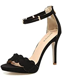 JQNSX Damen Kleid Schuhe Wies Mary Jane Schuhe Sexy High Heels