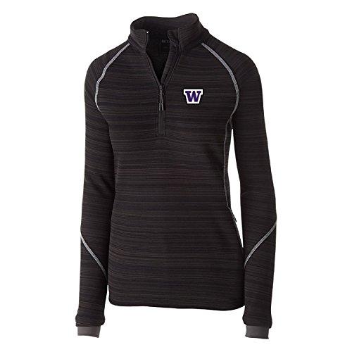 Ouray Sportswear NCAA Iowa Hawkeyes Women's Deviate Pullover Jacket, Medium, Black Womens Storm Front Jacket