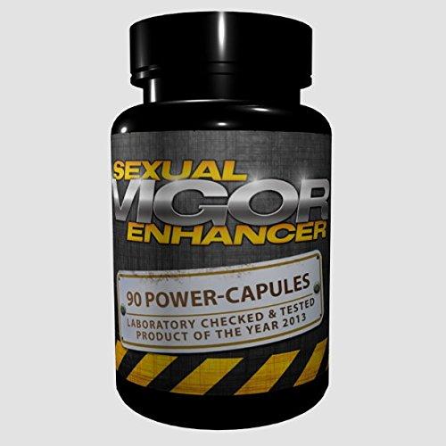 Vigor - Sexual Enhancer (90 Kapseln) - längere und härtere Erektion, Orgasmus, Erektionsmittel, Potenzmittel für Männer
