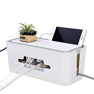 SAYOU® Kabelbox / Kabelmanagement Box / KabelfüHrungssysteme / Cable Organizer für Steckdosenleiste,Steckdose und Hub (Weiß)