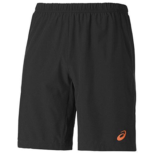 Asics 2 In 1 Short 9 Inch Pantaloncini, Uomo, Nero/Arancione, XL