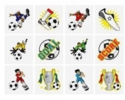 Henbrandt 24x Kinder Kids temporäre Fun Tattoos Fußball Geburtstag Party Beute Tasche Füllstoffe (Kid Temporäre Tattoos)