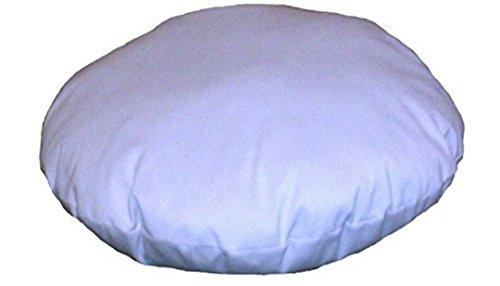 Marusthali indischen Weiß Ottoman 81,3cm Durchmesser Living Room Decor Home Decor Baumwolle rund kissenrollen Wurststopfer Pouf osmanischen Boden Pouf & Kissen Dekoratives Kissen einfügen (1Stück) -