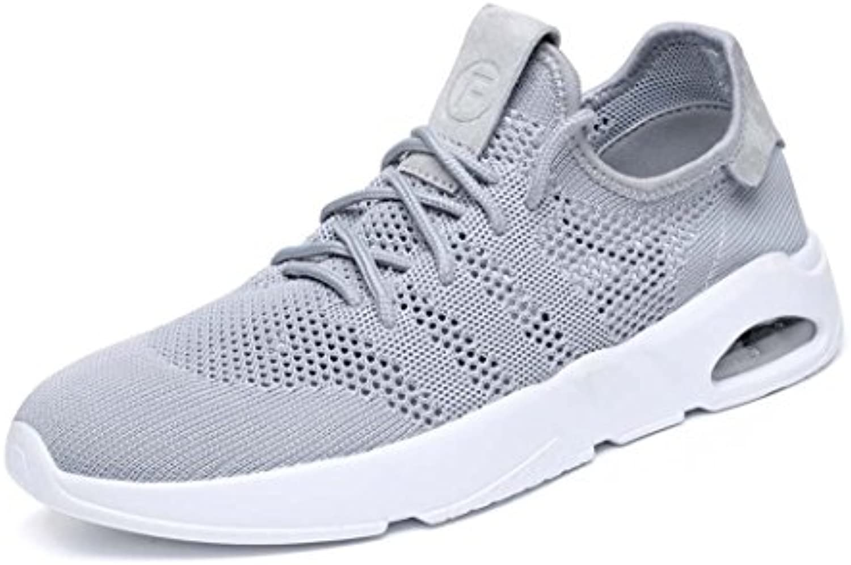 MISS&YG Hombres Air Cushion Sports Running Zapatos Casual Walking Sneakers Zapatos Para,Gray,41