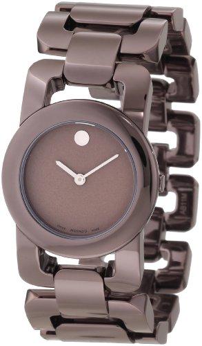 Movado Luma marrone cioccolato PVD orologio da donna 0606573