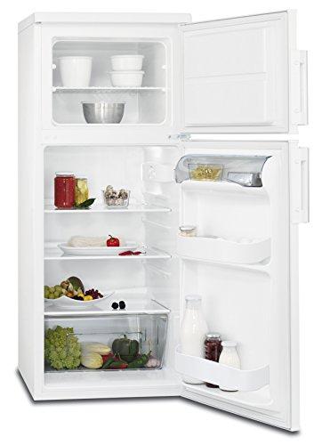 AEG RDB51811AW Kühl-Gefrier-Kombination mit Gefrierteil oben / Kühl-Gefrierkombi mit 130 l Kühlschrank & 41 l Gefrierschrank /  freistehender Kühlschrank mit Glasablagen / A+ / H: 120,9 cm / weiß