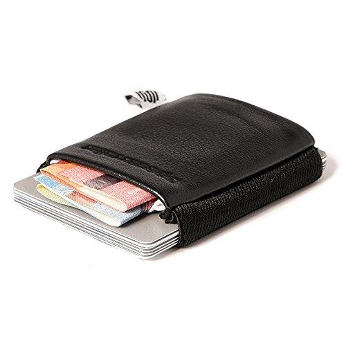 Space Wallet Classic Mini Geldbeutel aus Leder - Bis zu 15 Kreditkarten/EC-Karte...