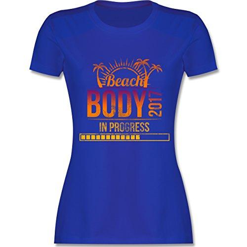 CrossFit & Workout - Beach Body 2017 - tailliertes Premium T-Shirt mit Rundhalsausschnitt für Damen Royalblau